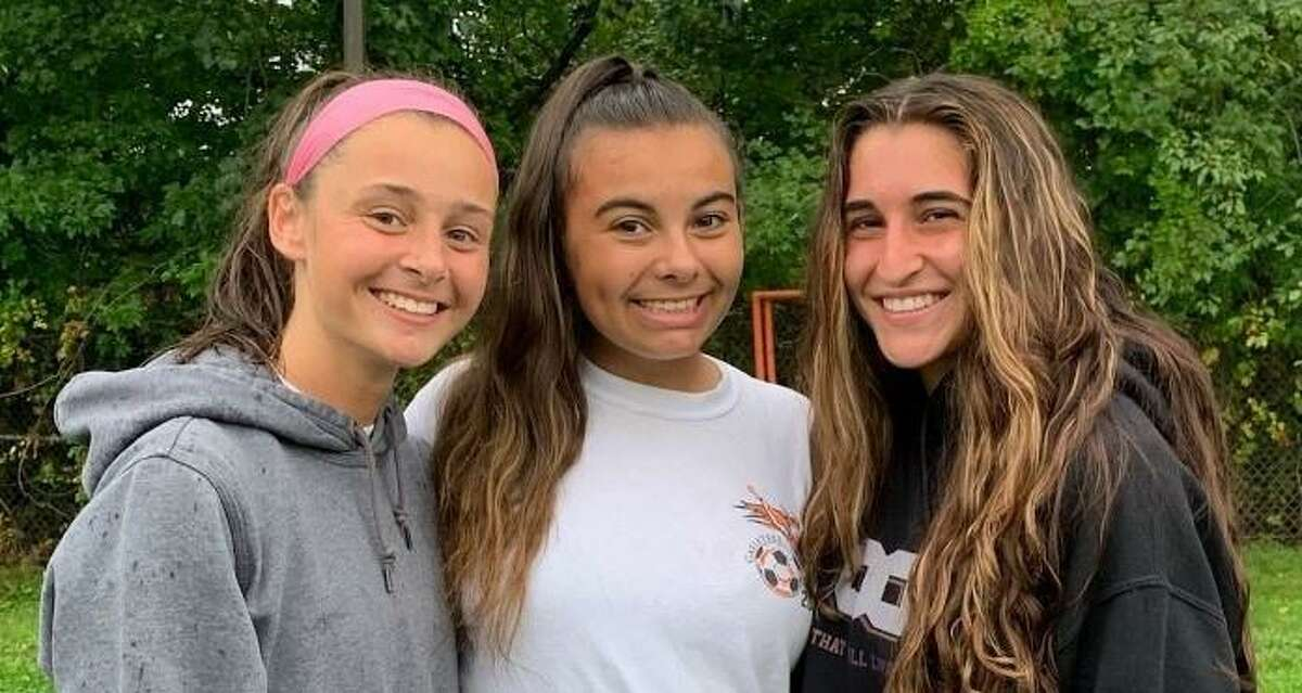 Lily Bacca, Julia Pulley and Mia Ferreira are Shelton's girls' soccer captains.
