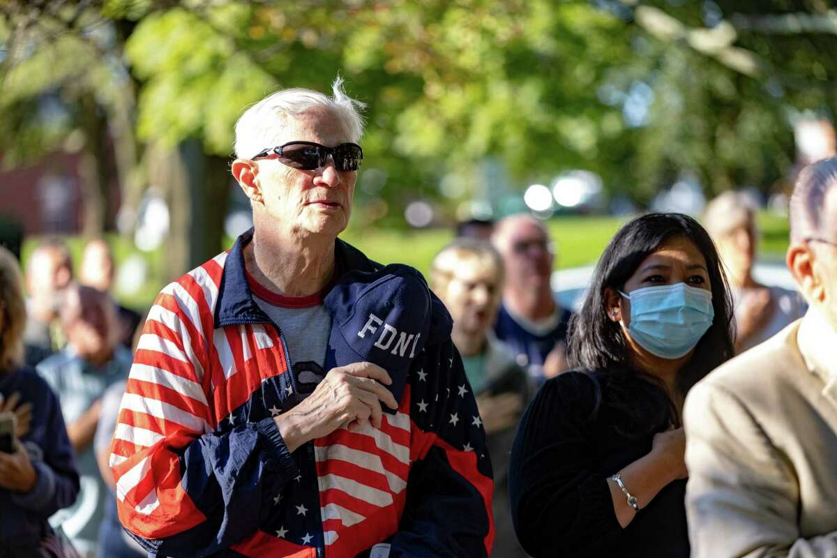 Scenes from Milford's 9/11 ceremony at Milford City Hall on Saturday, September 11, 2021.