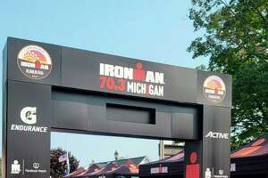 Officials say that the risk of spreading COVID-19 at events like the Ironman 70.3 is always present, and people should do what they can to help prevent the spread while continuing to host events. (Colin Merry/Record Patriot)
