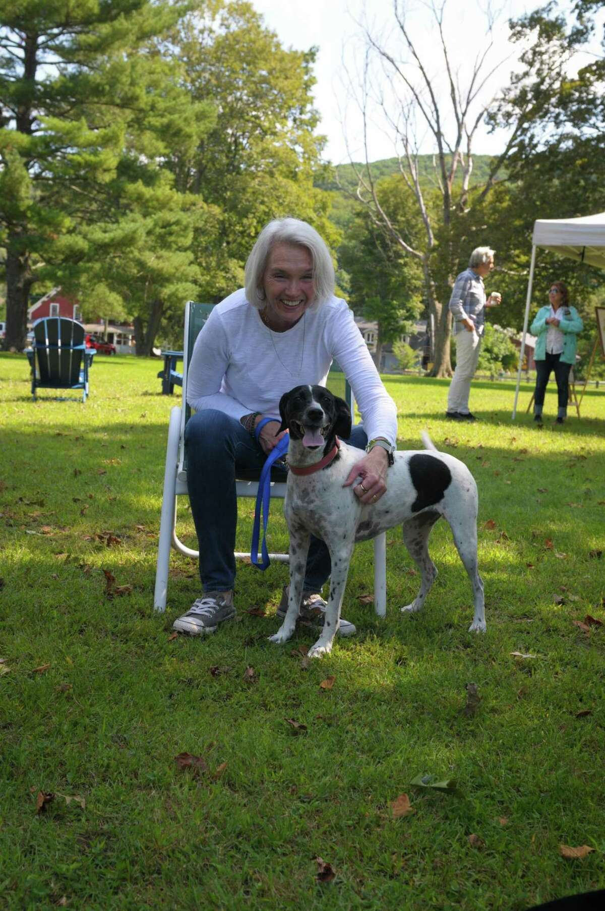 State Rep. of the 64th district Maria Horn and her dog Nelly in Kent.