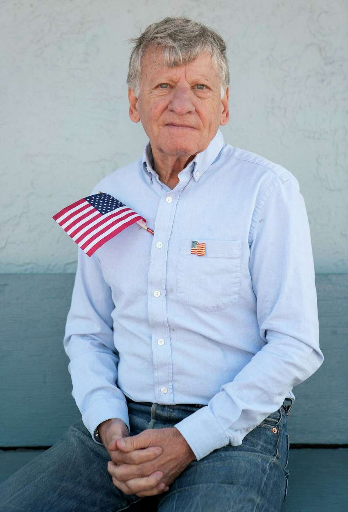Army veteran Bob Katz, at a barbecue honoring veterans in Foster City, remembered a friend who died on Flight 93.