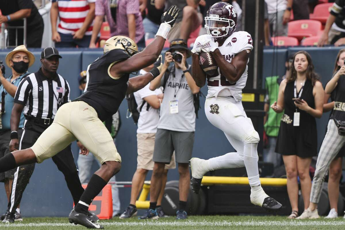 Isaiah Spiller had the game-winning touchdown catch in the final minutes last week against Colorado but Texas A&M is looking to avoid another close shave when the Aggies host New Mexico on Saturday.