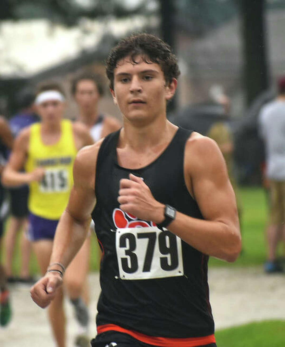 Edwardsville's Ryan Luitjohan competes in the Granite City Invitational.