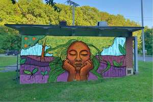 Murals proposed for South Norwalk's MLK Drive created by Lauren Clayton.