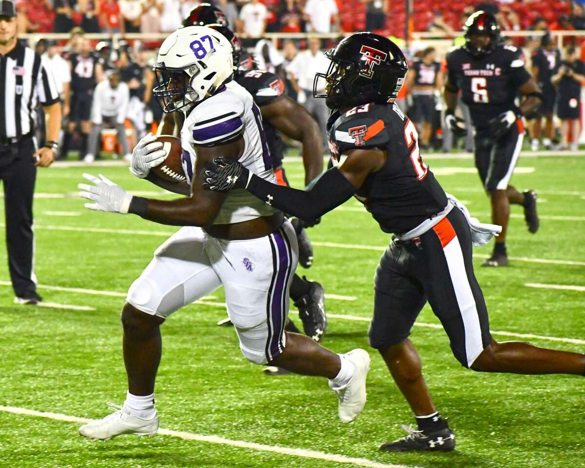Texas Tech defeated Stephen F. Austin 28-22 in a non-conference college football game on Saturday in Jones AT&T Stadium at Lubbock.