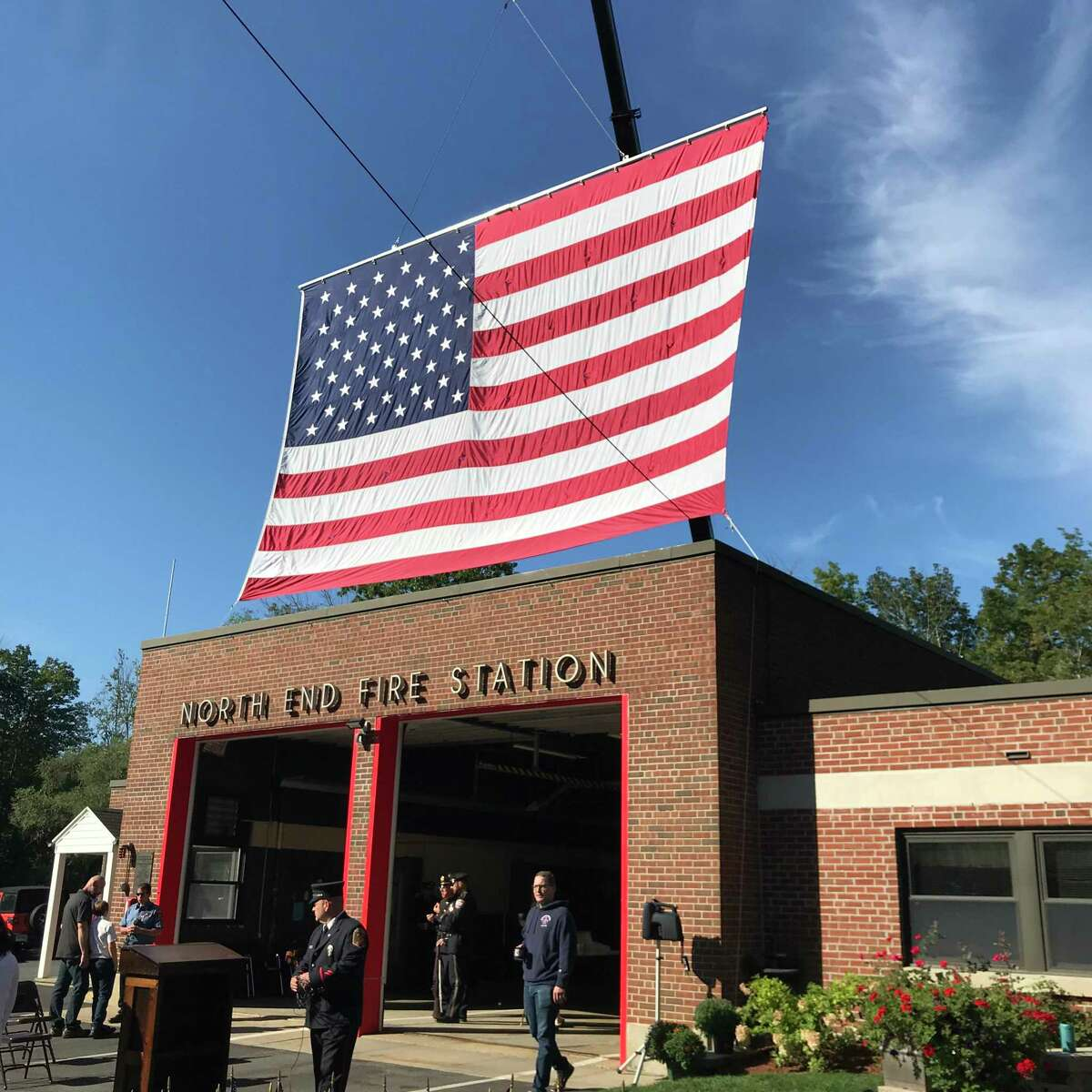A ceremony was neld Saturday at Torrington's North End Fire Station honoring victims of 9/11.
