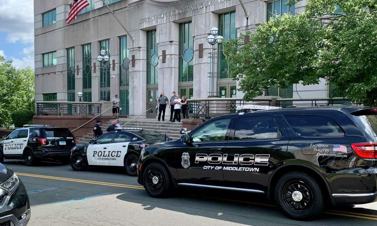 Police were called the Superior Court in Middletown last month after the family of shooting victim Tylon Hardy started shouted at the family of accused killer Matthew O'Banner.