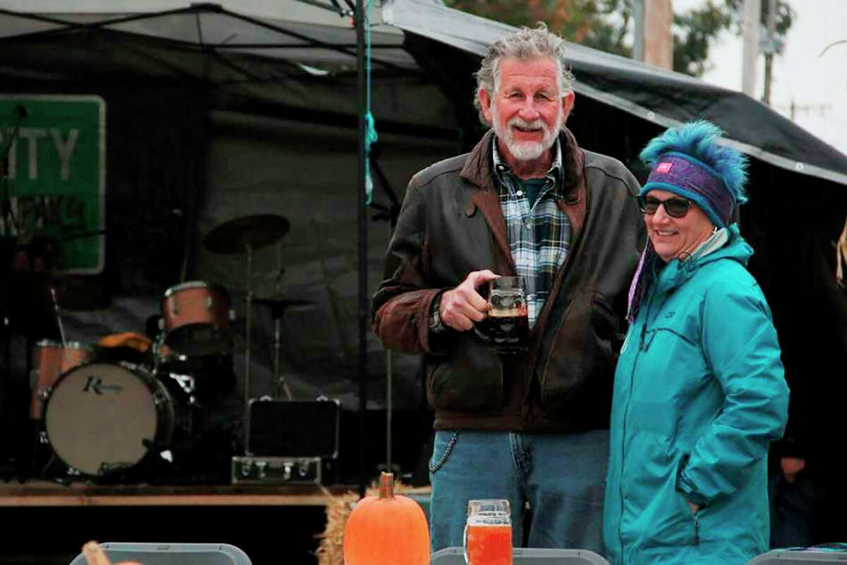 Attendees braved the cold at Reed City Brewing Company's inaugural Oktoberfestlast year. The celebration returns this year on Sept. 25. (Pioneer file photo)