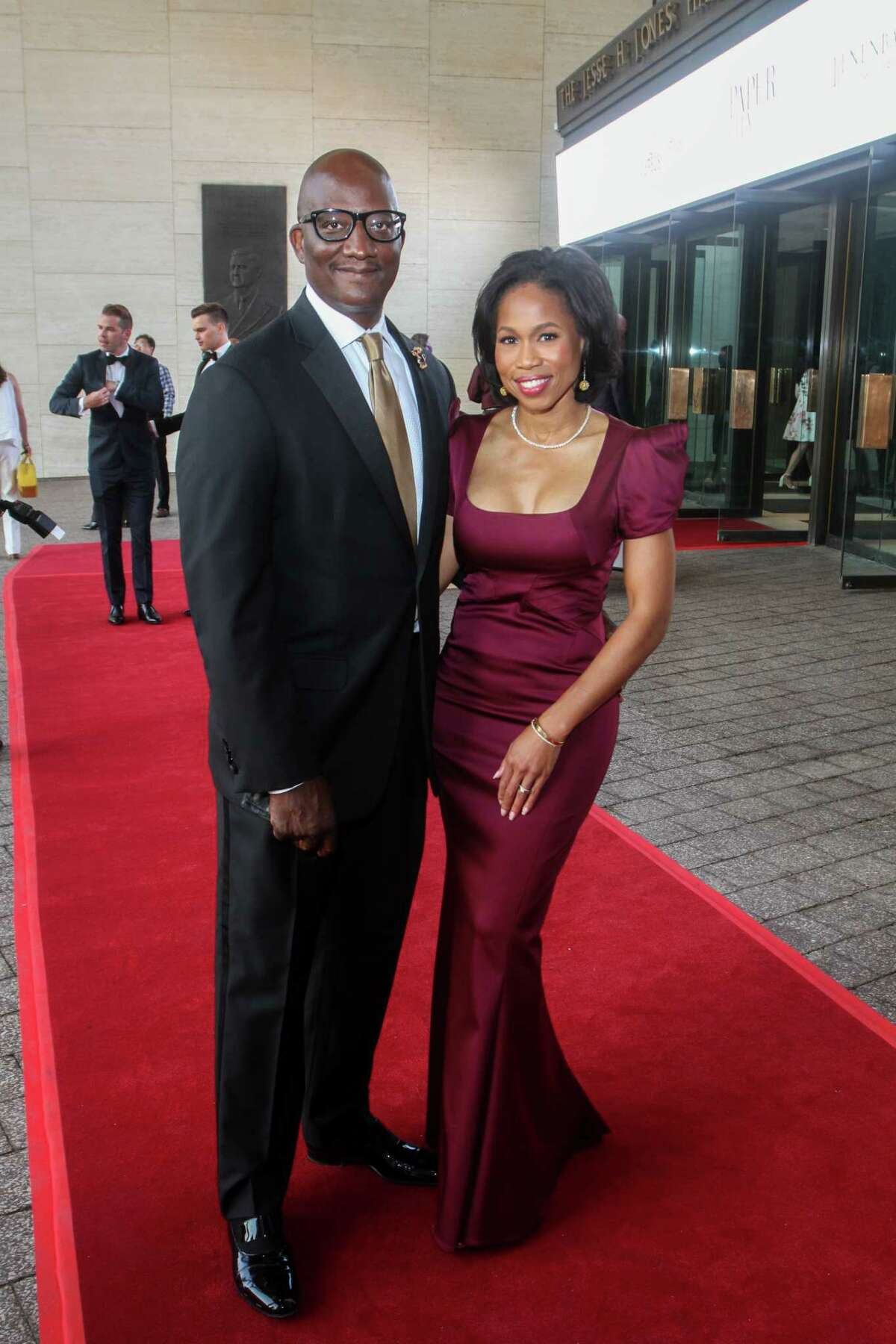 Derrek Mitchell and Roslyn Bazzelle Mitchell at the Houston Symphony Opening Night Concert.