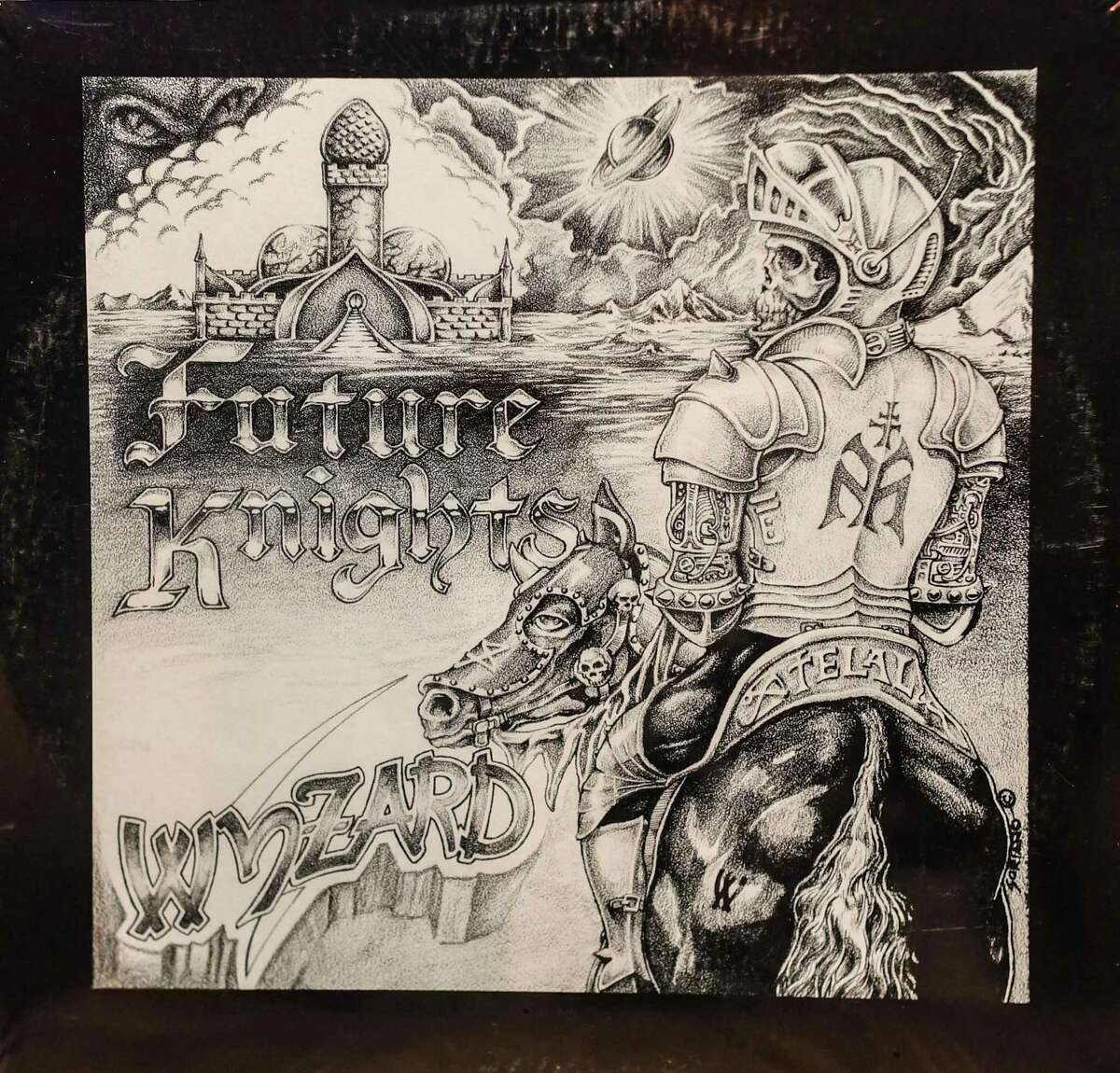 """The album """"Future Knights"""" by the San Antonio metal band Wyzard was recorded in 1983 in San Antonio and released in 1984. Only 100 copies were pressed."""