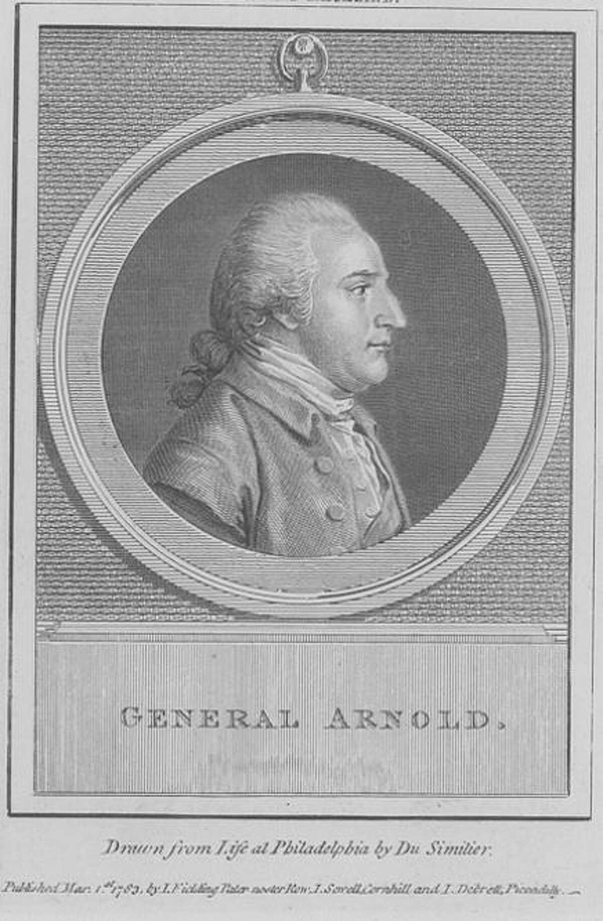 Portrait of General Benedict Arnold. Drawn from life of Philadelphia by Du Simitier.