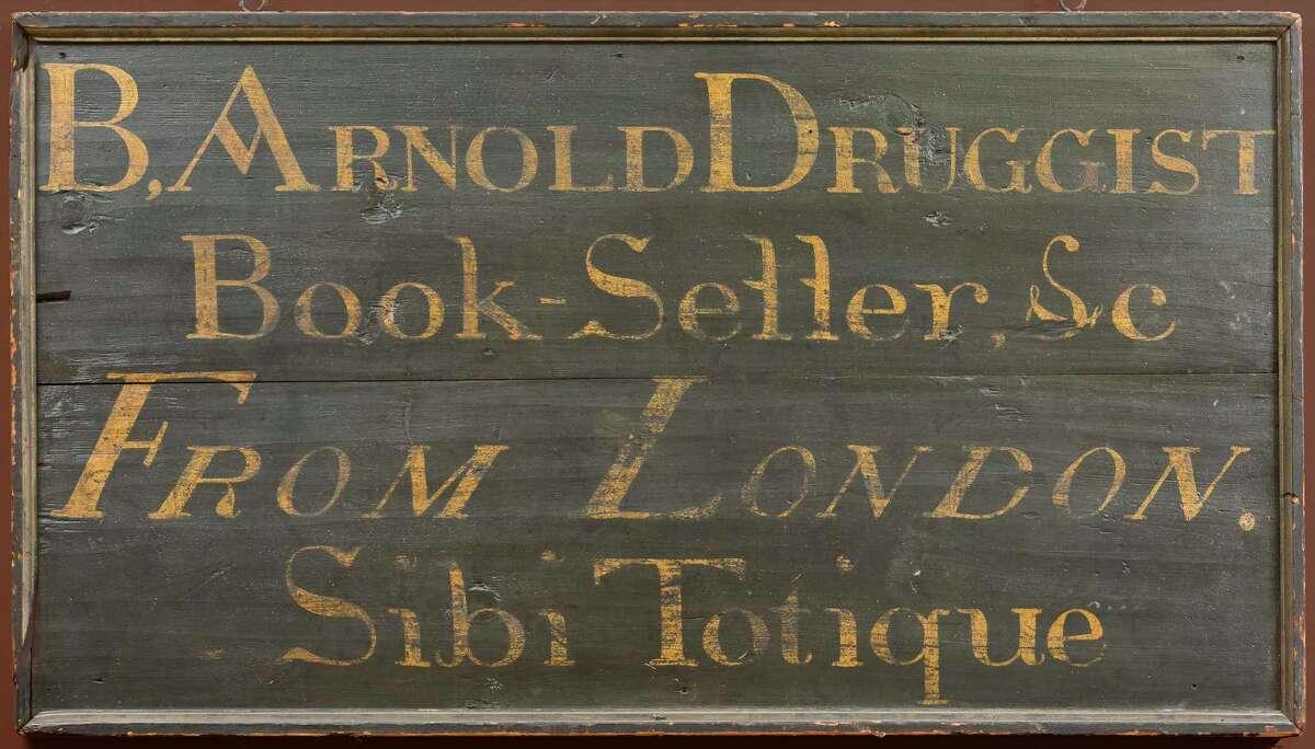 Benedict Arnold's shop sign