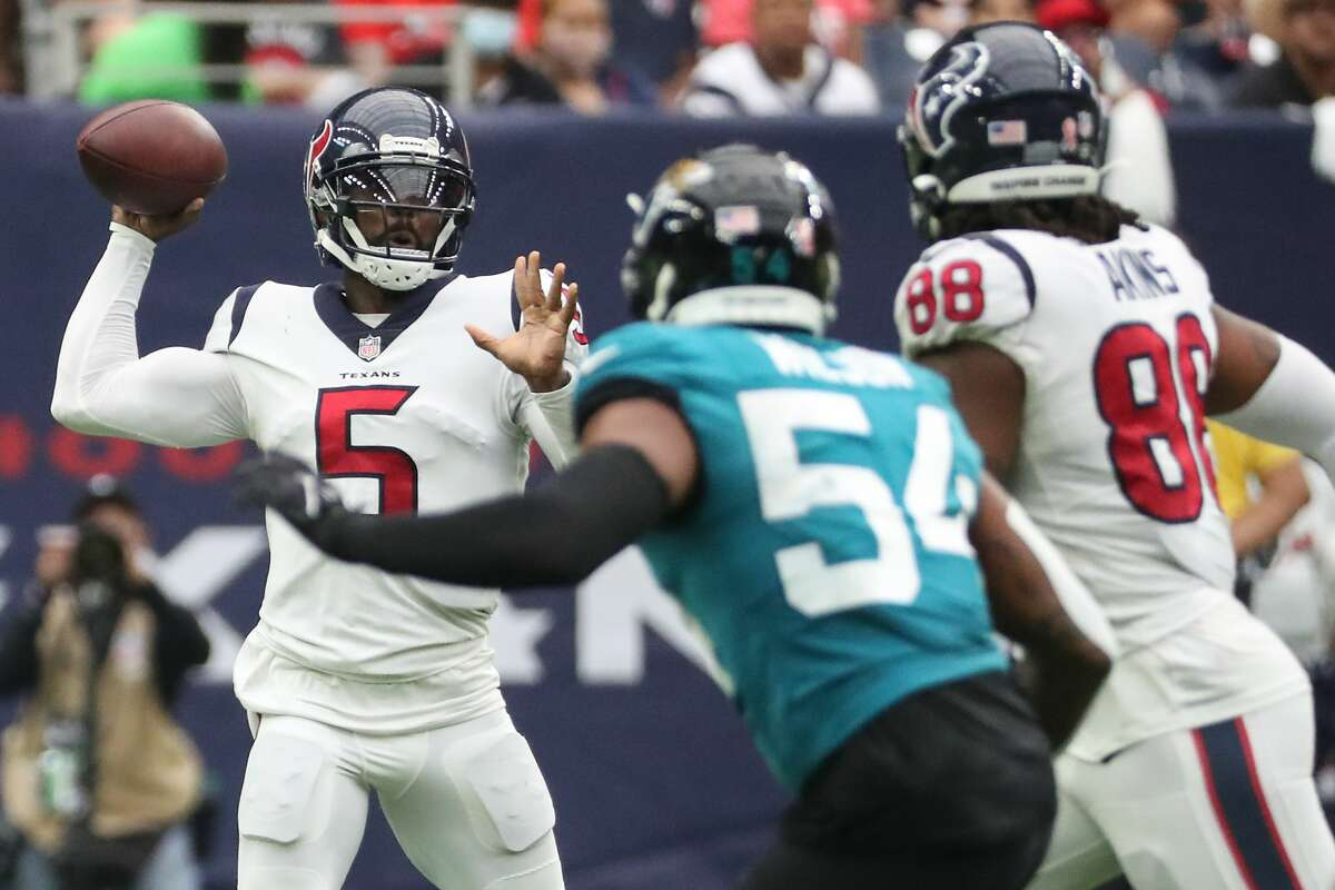 The Texans will need quarterback Tyrod Taylor to be as effective as he was in last weekend's season-opening win over Jacksonville to have a chance of upsetting the Browns on the road.