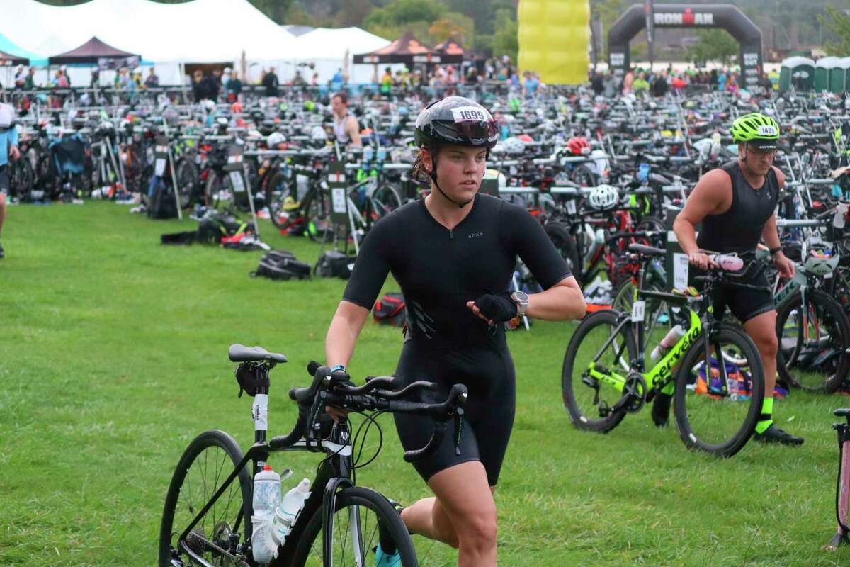 One notable sight inFrankfort over the weekend was the massive staging area for the bicycles. (Robert Myers/News Advocate)