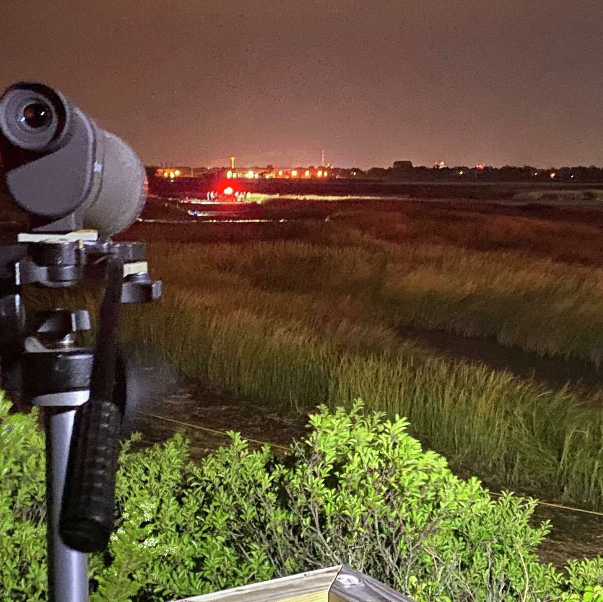 It took fire crews nearly two hours to free a fisherman trapped in mud in the marshlands off of Smith's Point in Milford, Conn, on Wednesday, Sept. 8, 2021.