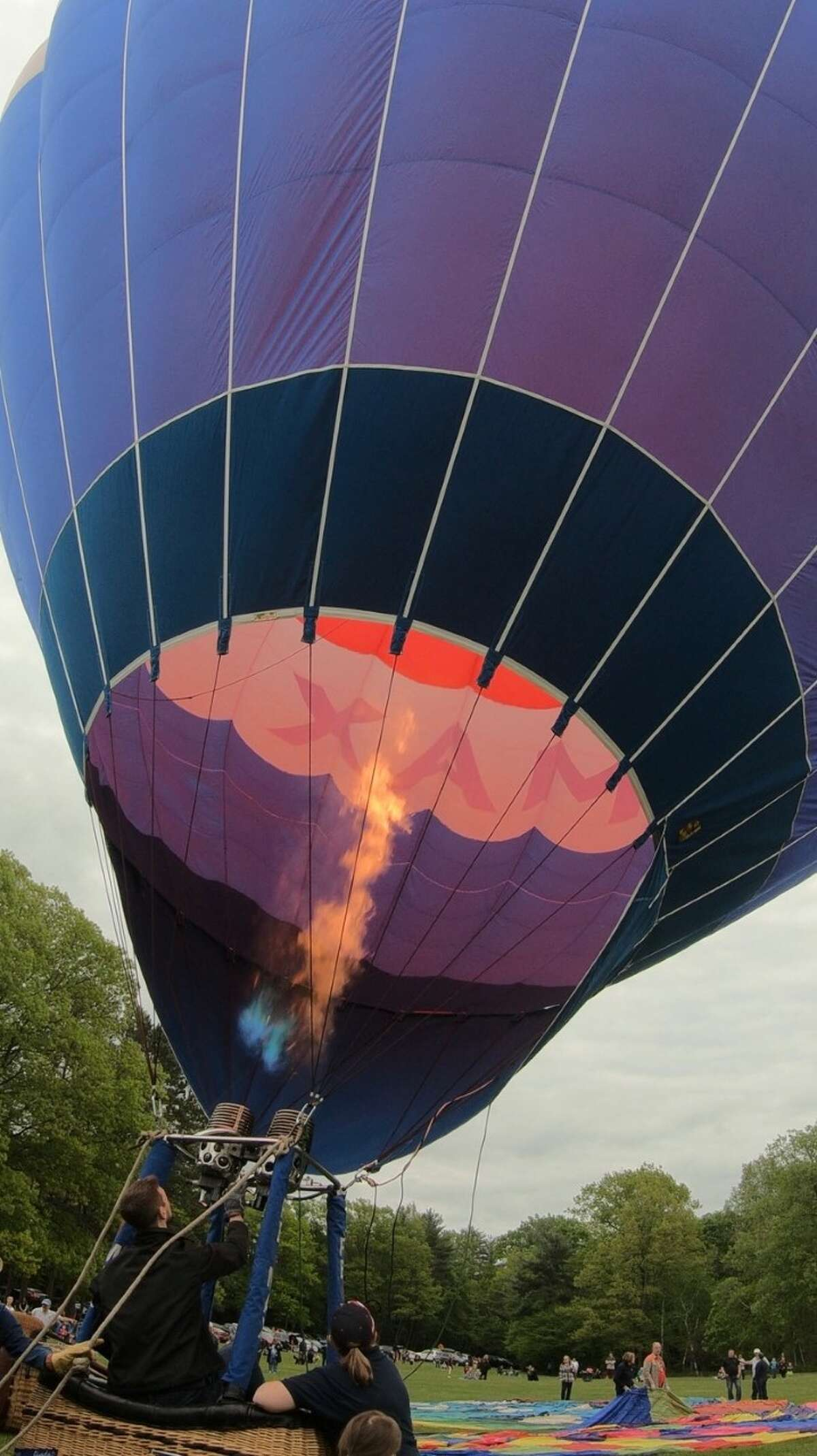Inflating balloons at Letchworth State Park. (credit: Jessica Kelly)