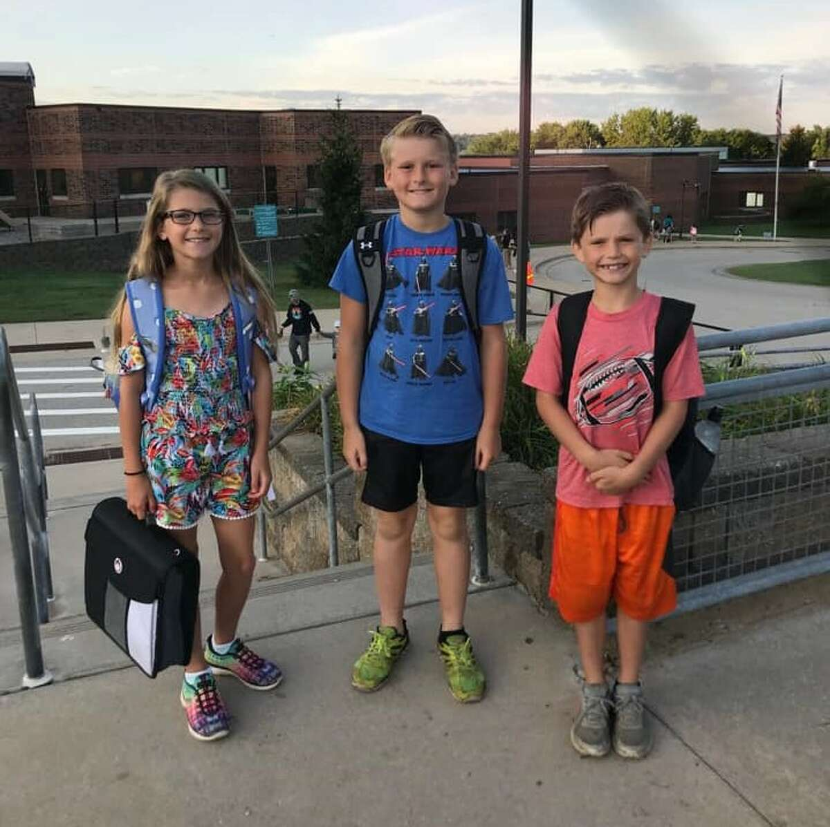 The Sedelmaiers ready for thefirst day at Onekama Consolidated Schools.