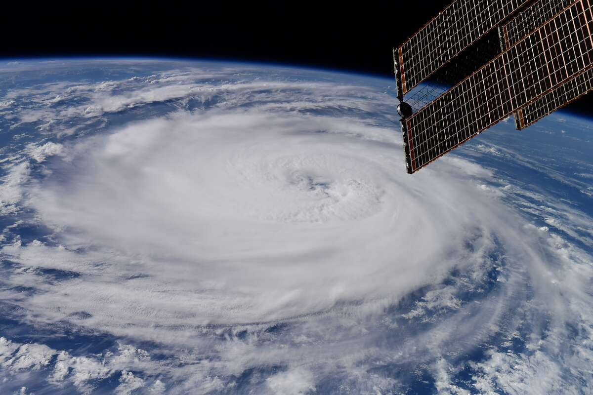 Hurricane Larry is shown from the International Space Station. This photo was shared by NASA astronaut Megan McArthur on Twitter on Sept. 5, 2021.
