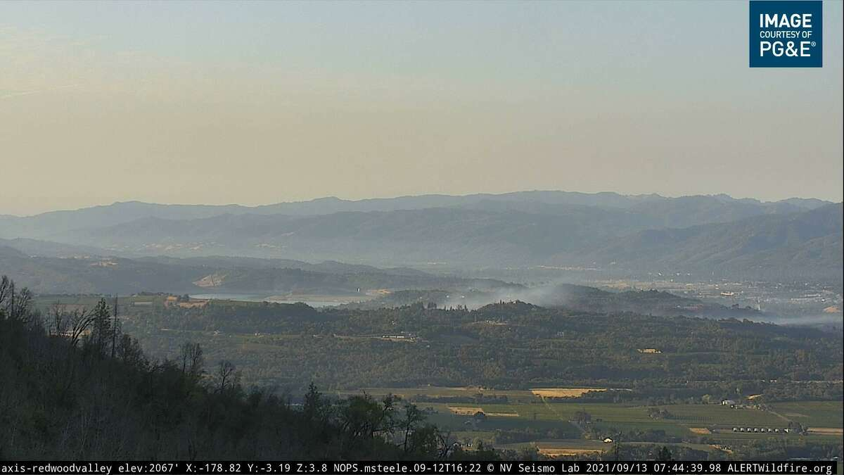 Smoke drifting off of the Hopkins Fire in Mendocino County.