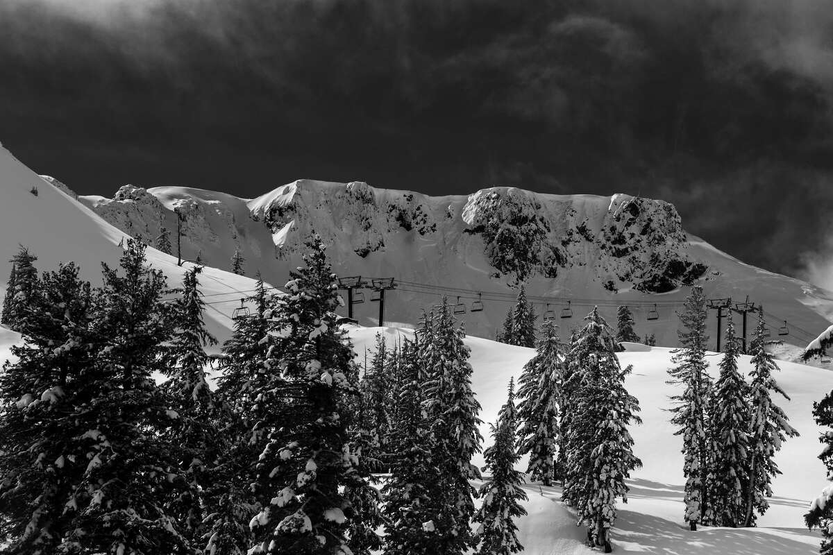 The Palisades ridge (pictured) is the inspiration of the new name for the iconic Tahoe ski resort.