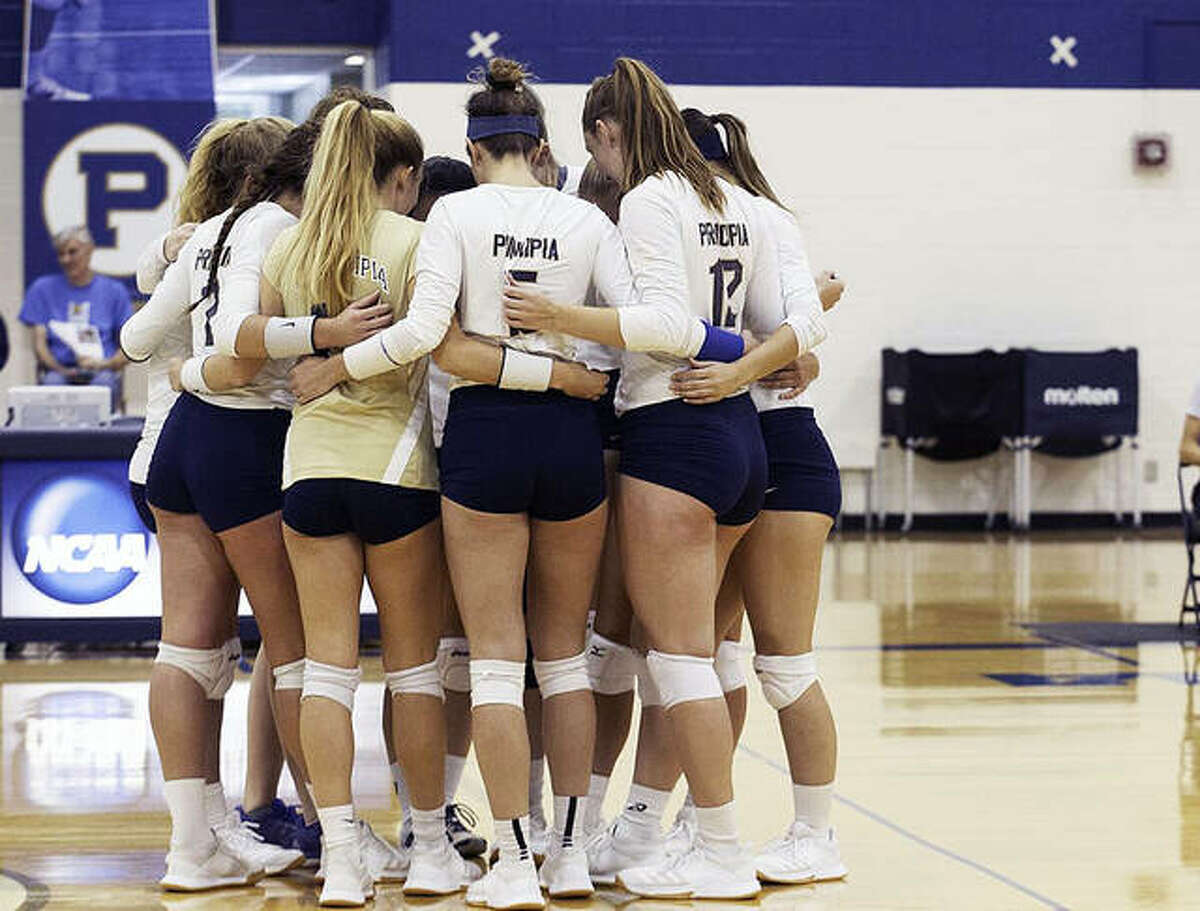 Principia College's women's volleyball team has returned following more than a year away. The Panthers, shown above during a 2019 match, began their 2021 season over the weekend with a pair of matches against Southeastern Illinois College and St. Louis Community College. Their next action will be at home Wednesday against St. Louis community College.