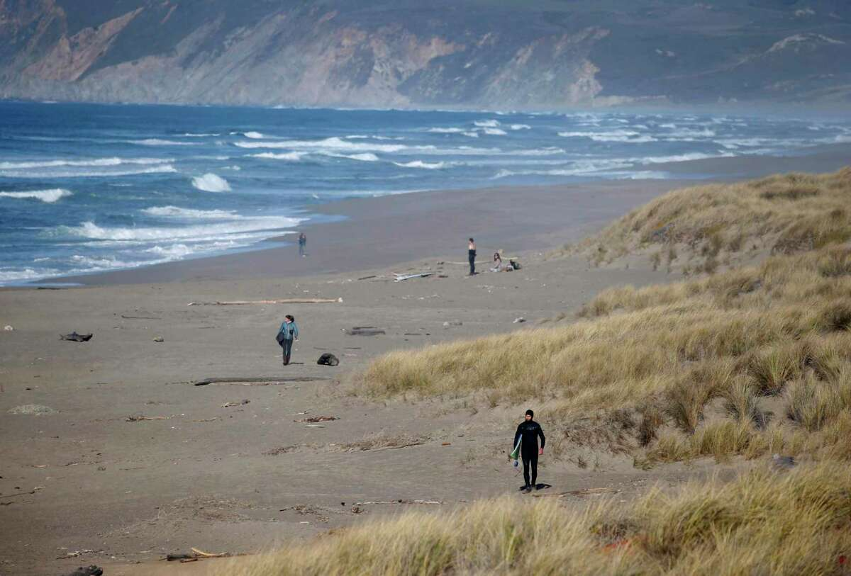 A photograph of Point Reyes National Seashore. A decomposed body was found in a remote area of the Point Reyes National Seashore, and investigators have not been able to identify it.