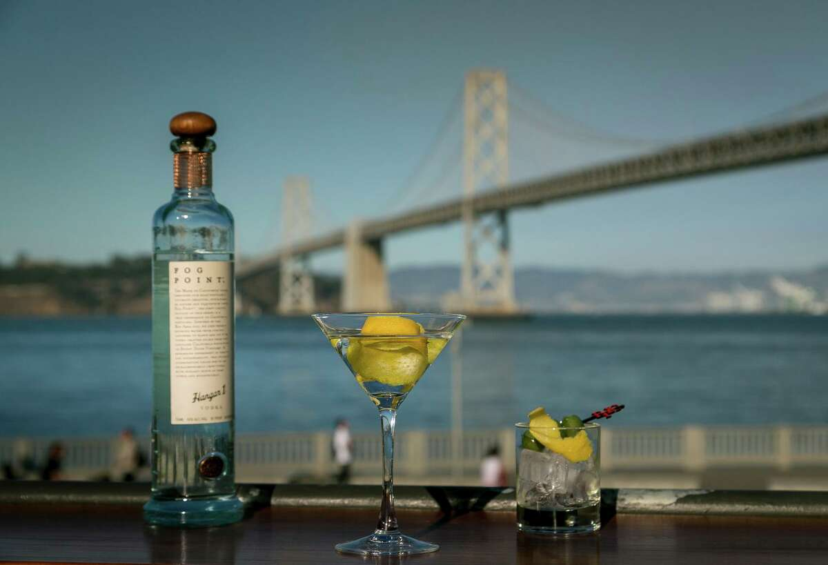 """The Fog Point Vodka Martini at Epic Steak. The drink is made with Hangar 1 Fog Point Vodka, which """"harvests"""" San Francisco fog as part of its production process."""