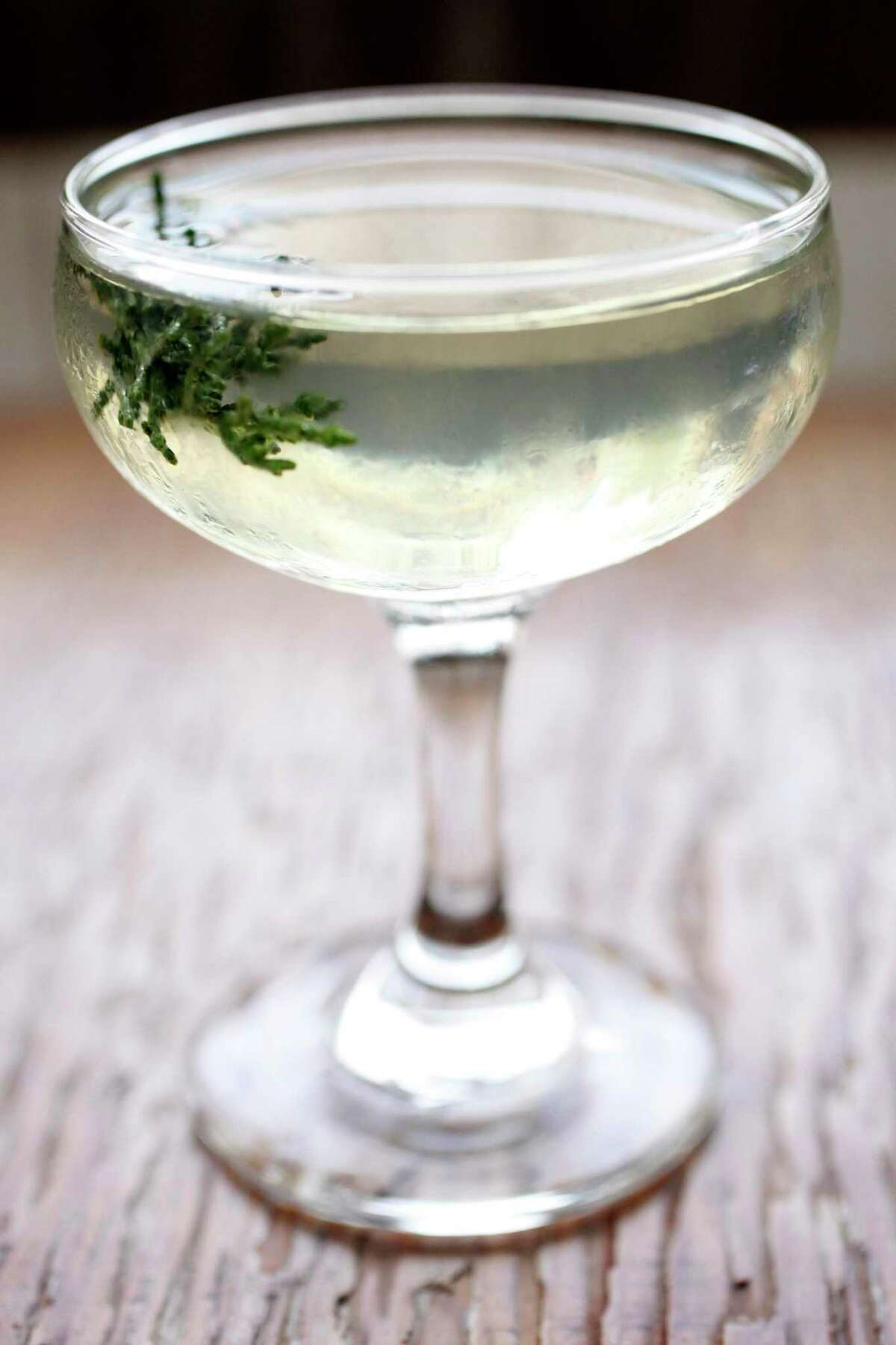 The Lands End cocktail was a longtime signature of Rich Table. Based on St. George Terroir Gin and garnished with Douglas fir, the drink was meant to recall the smells of a Mount Tam hike.