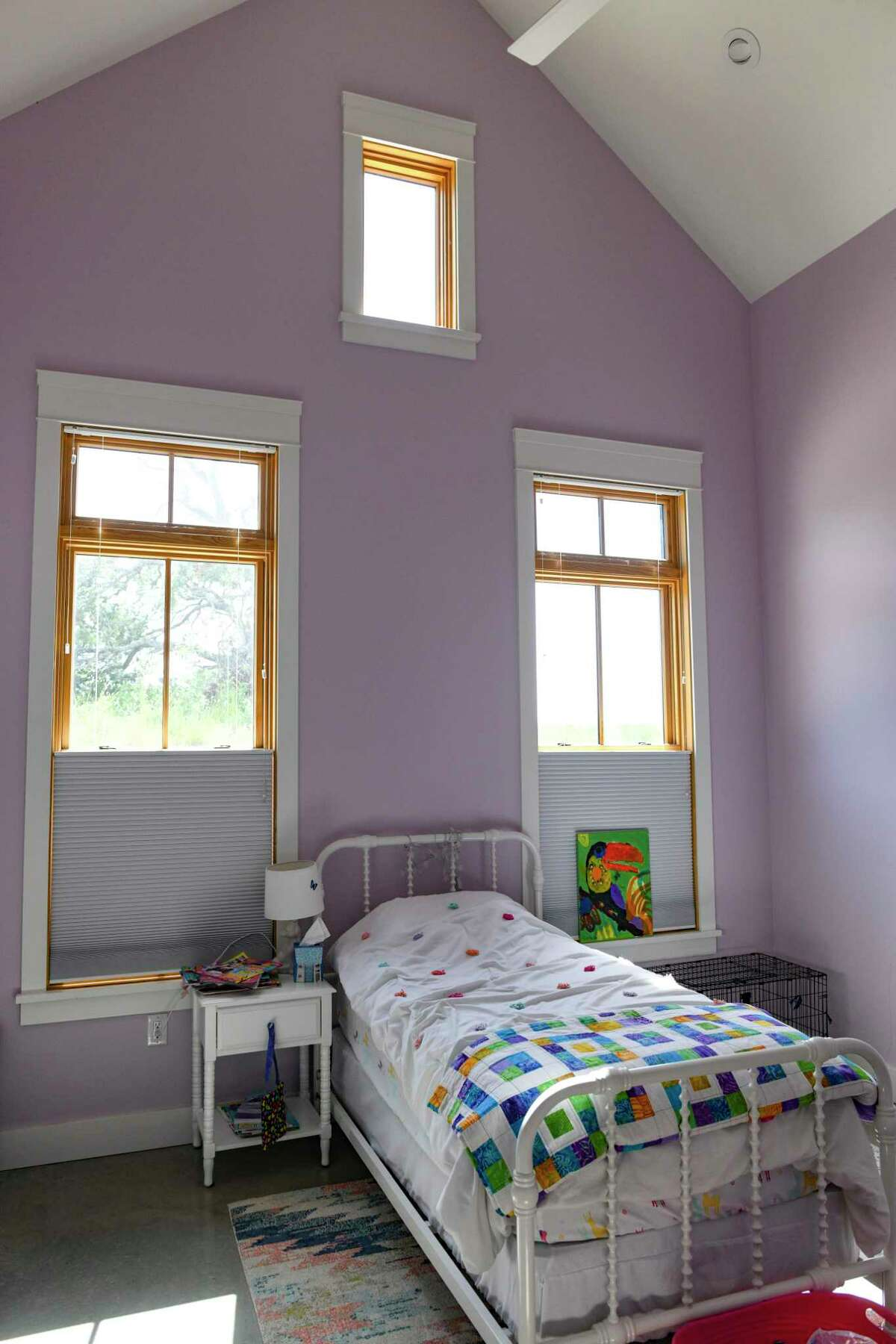 This is a child's bedroom in the Texas Wine Country home of Carey and Regan Meador at Southold Farm + Cellar.