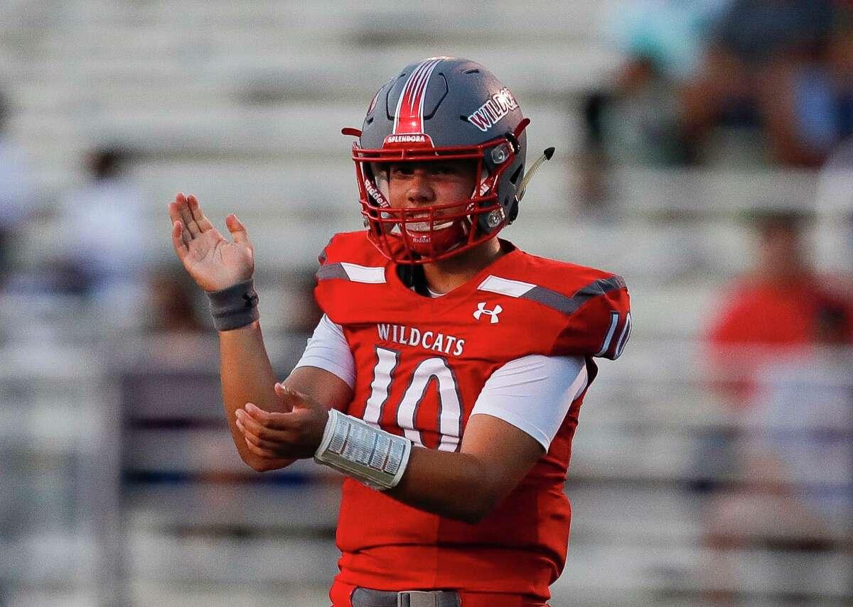 Splendora quarterback Harrison Facundo, shown here last season, was 12-for-16 for 178 yards and three touchdown passes last Thursday against Houston Kashmere.