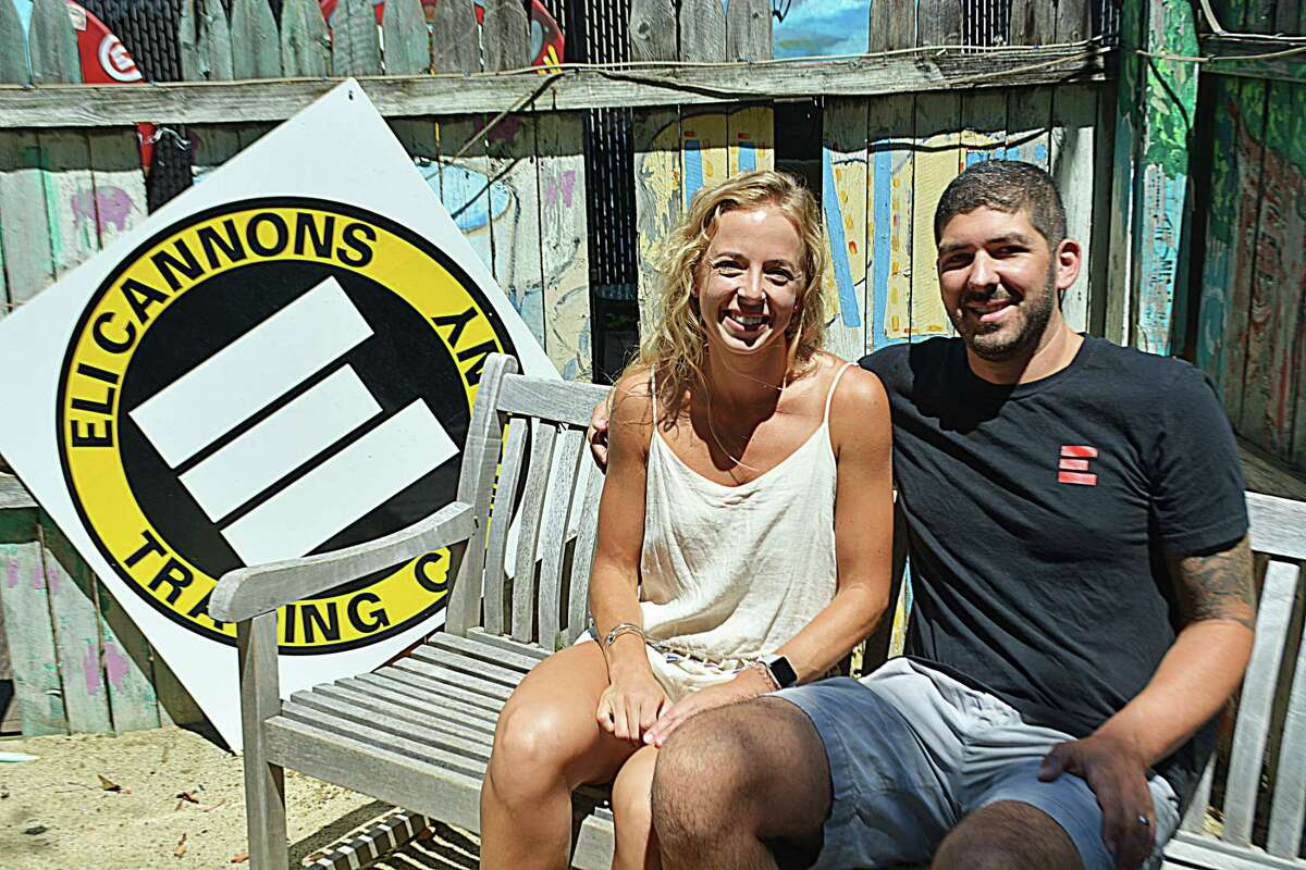Aubrey and Rocco Lamonica own Eli Cannon's Tap Room in Middletown's North End.