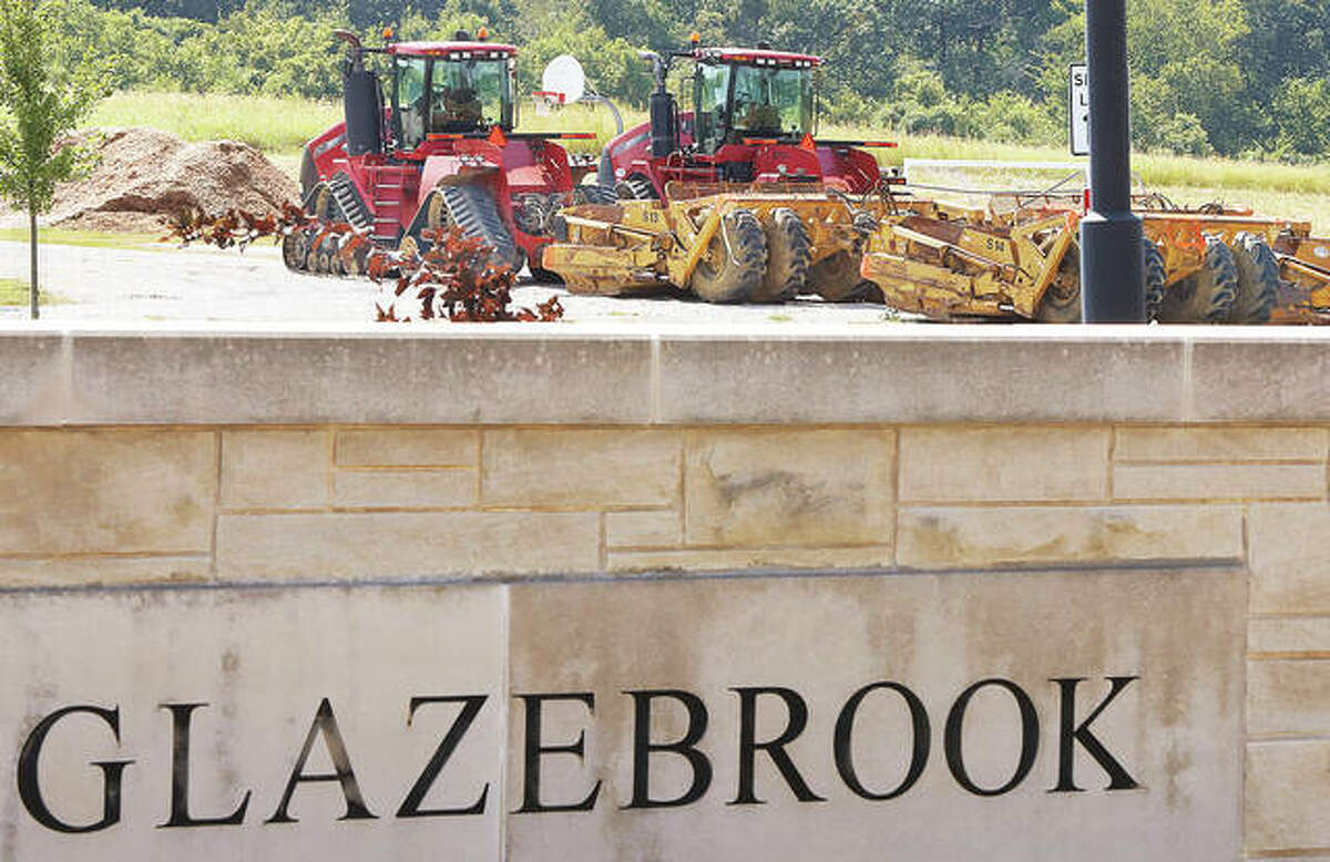 The expansion work at Glazebrook Park in Godfrey is starting to get under way, with earth moving equipment already on the site Monday. The expansion will include a lacrosse field, concession facilities, a playground, a splash pad and more. - John Badman The Telegraph