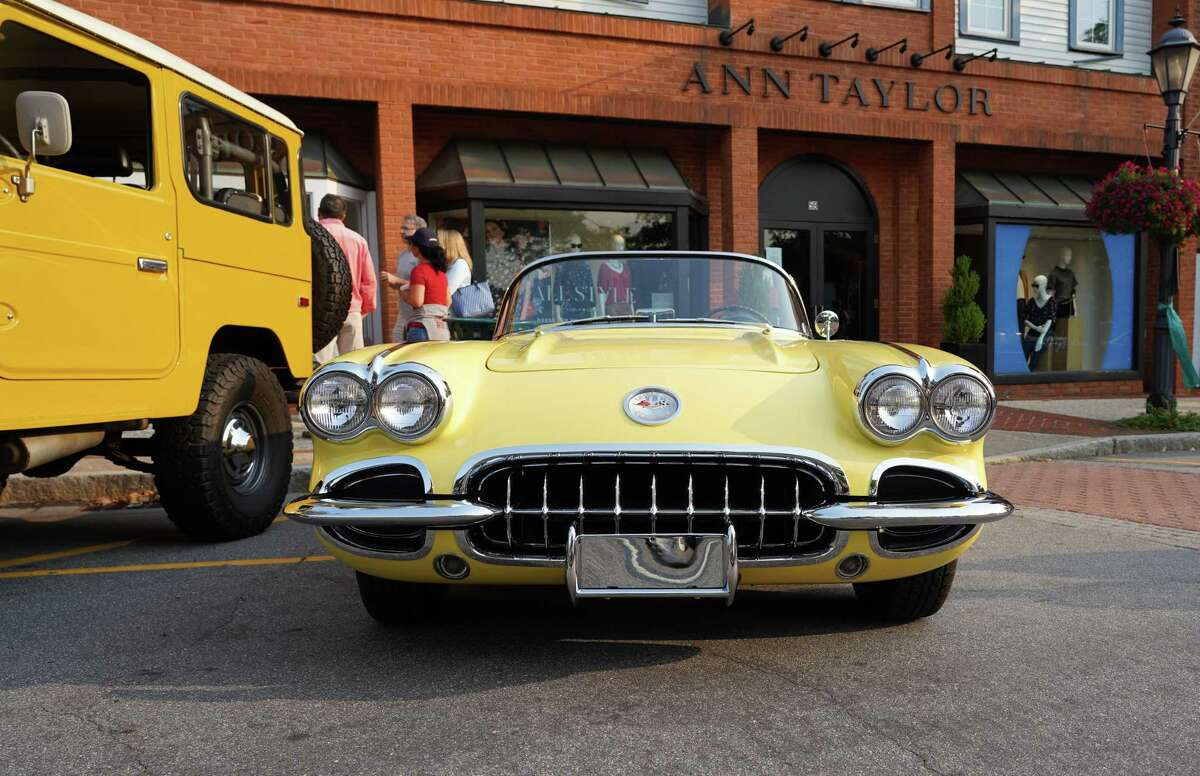 The beloved tradition of Caffeine and Carburetors brought back extraordinary cars to Elm and Pine streets in New Canaan after a break due to the pandemic on Sept. 12, 2021.
