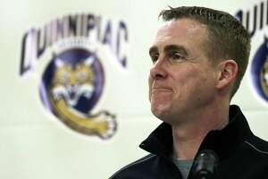 Quinnipiac men's hockey coach Rand Pecknold.