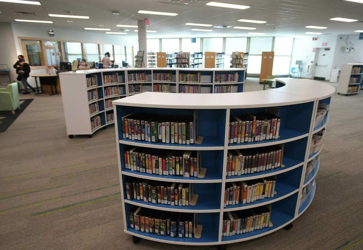 The newly remodeled and expanded children's library at the Milford Library in Miolford, Conn. is open for business on Tuesday, March 9, 2021.
