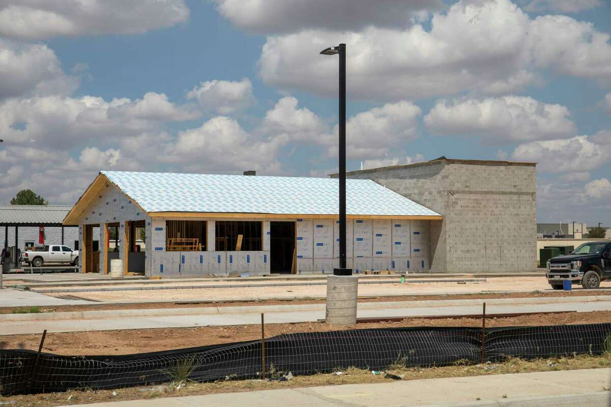 Black Rifle Coffee Co. is hoping to open its doors in mid to late October. Current construction is seen Monday, Sept. 13, 2021 on 3500 N. Big Spring Street. Jacy Lewis/Reporter-Telegram