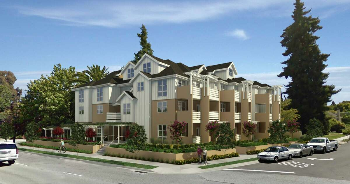 A rendering of the proposed housing project in San Mateo that was the subject of the court action.