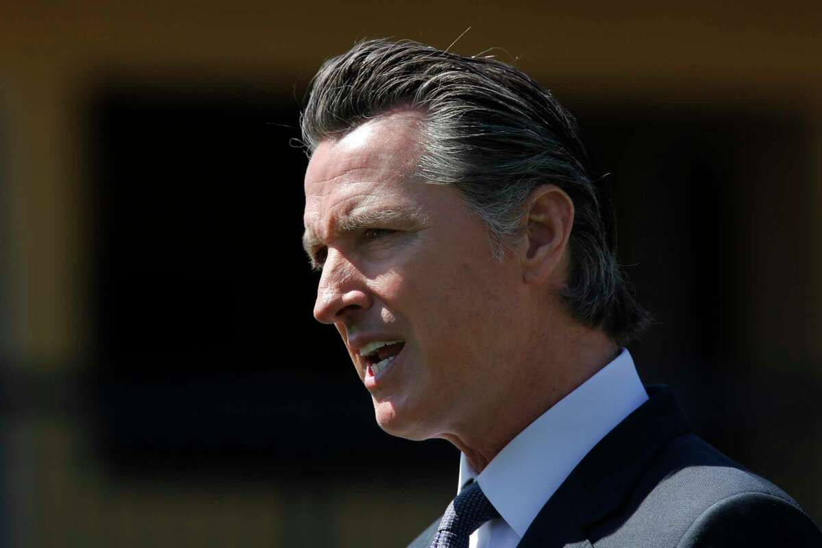 Gov. Gavin Newsom during a news conference near Sacramento, Calif on April 3, 2020.