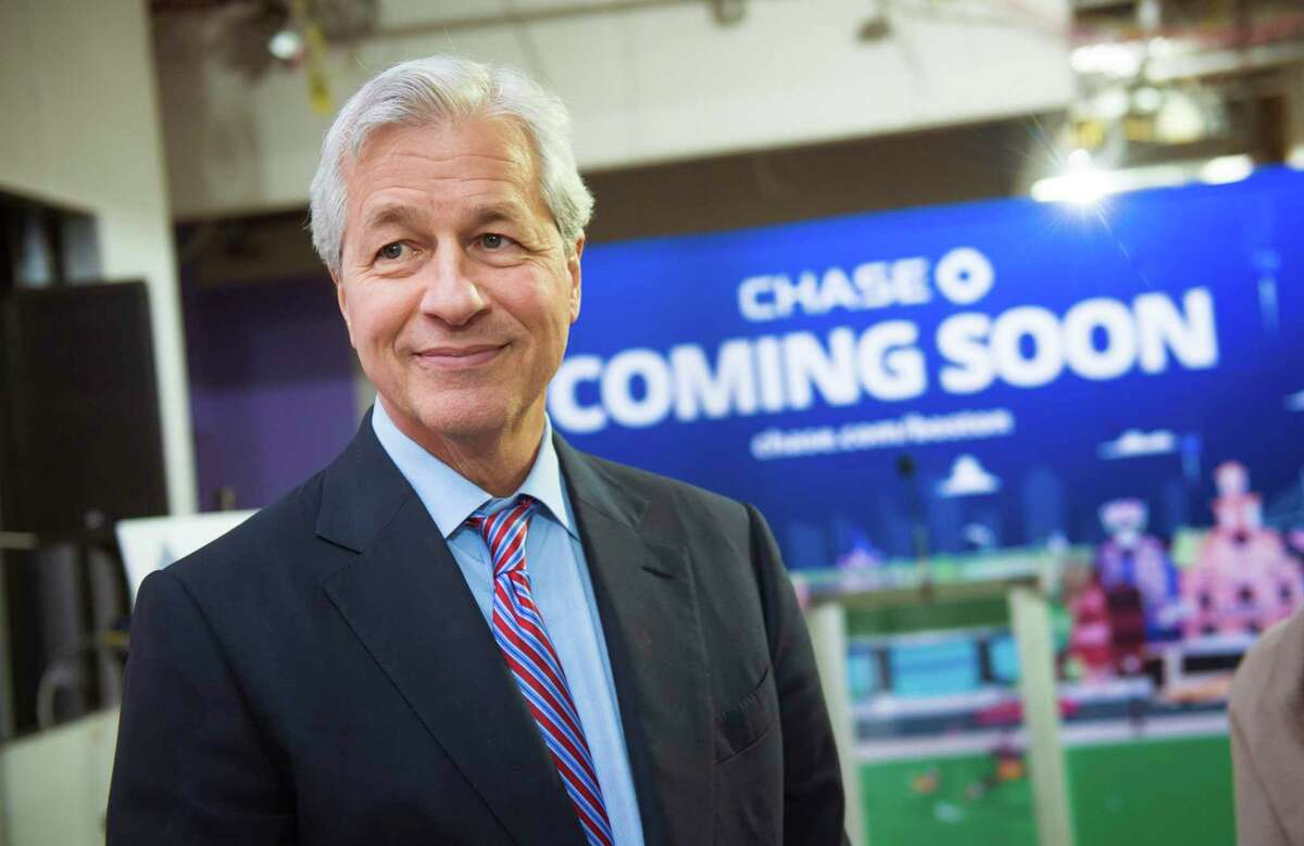 JPMorgan Chase CEO Jamie Dimon in December 2018 in Boston, Mass. Chase led all major retail banks in Connecticut for deposit gains over 12 months through June 2021, as businesses and households socked away stimulus payments and cut extraneous costs.