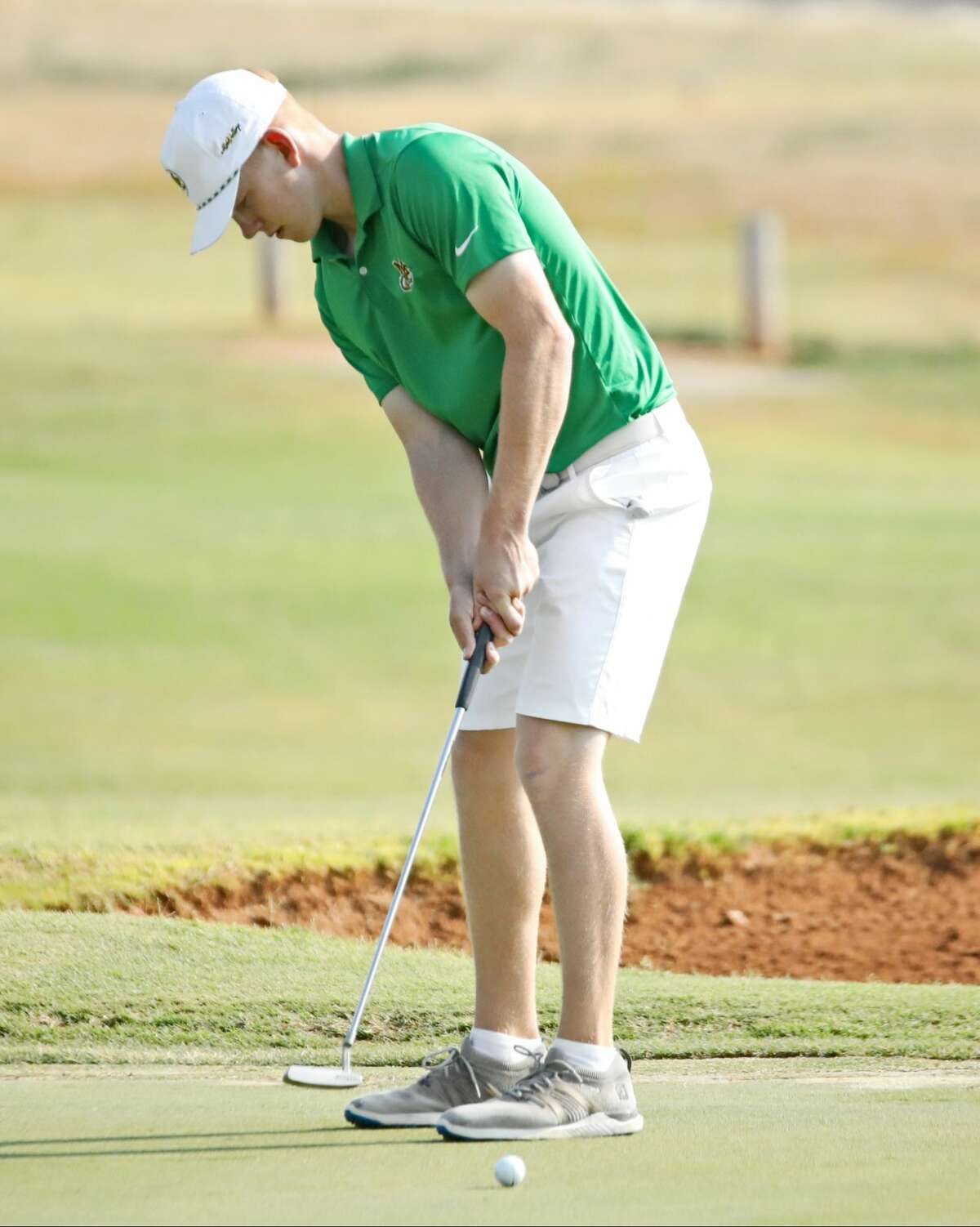 Midland College golfer Gregor Graham is shown in action during the Andrews Collegiate AM at Andrews Country Club on Sunday.