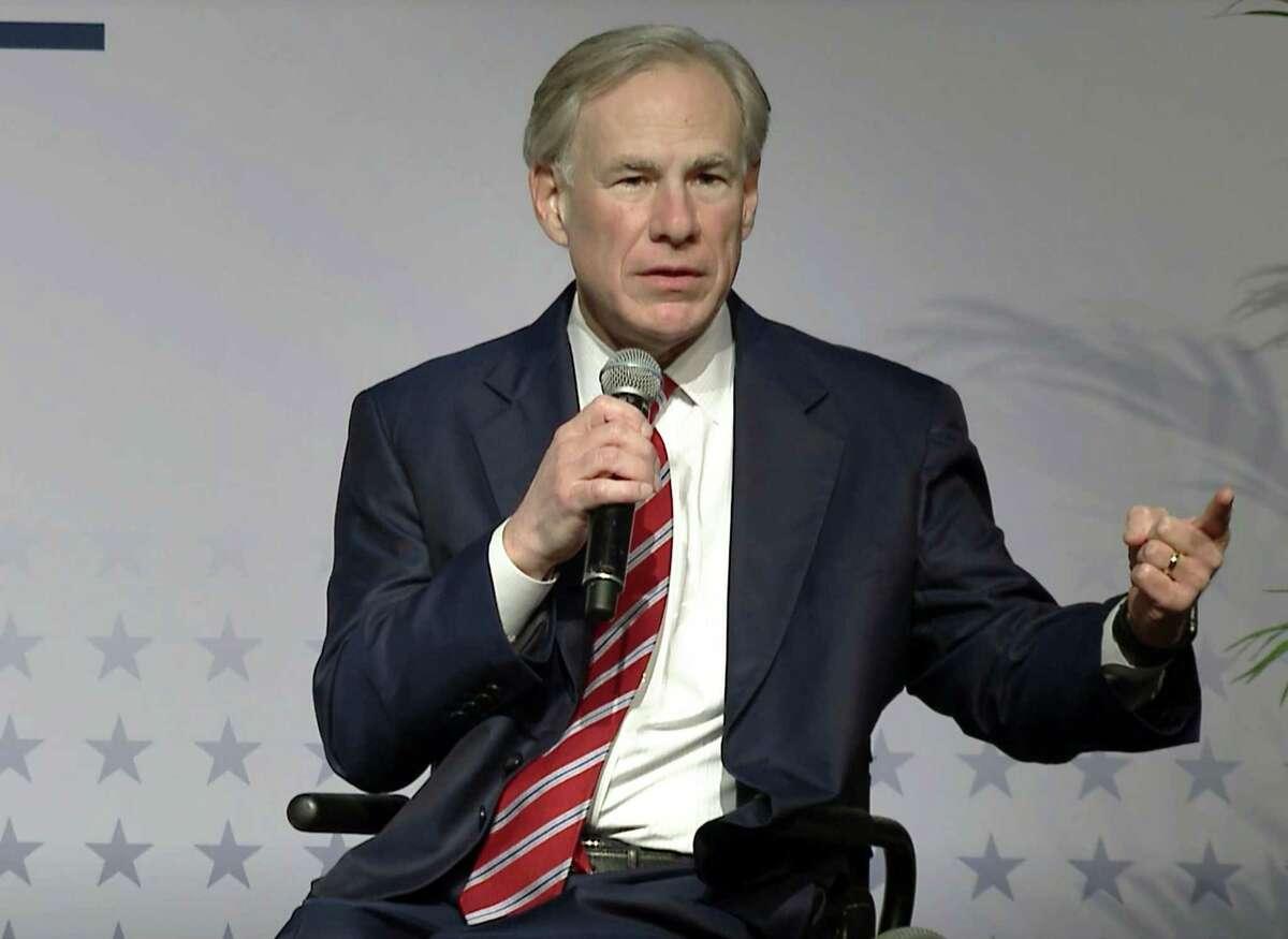 Texas Gov. Greg Abbott in March 2021. (Lynda M. Gonzalez/Dallas Morning News/TNS)