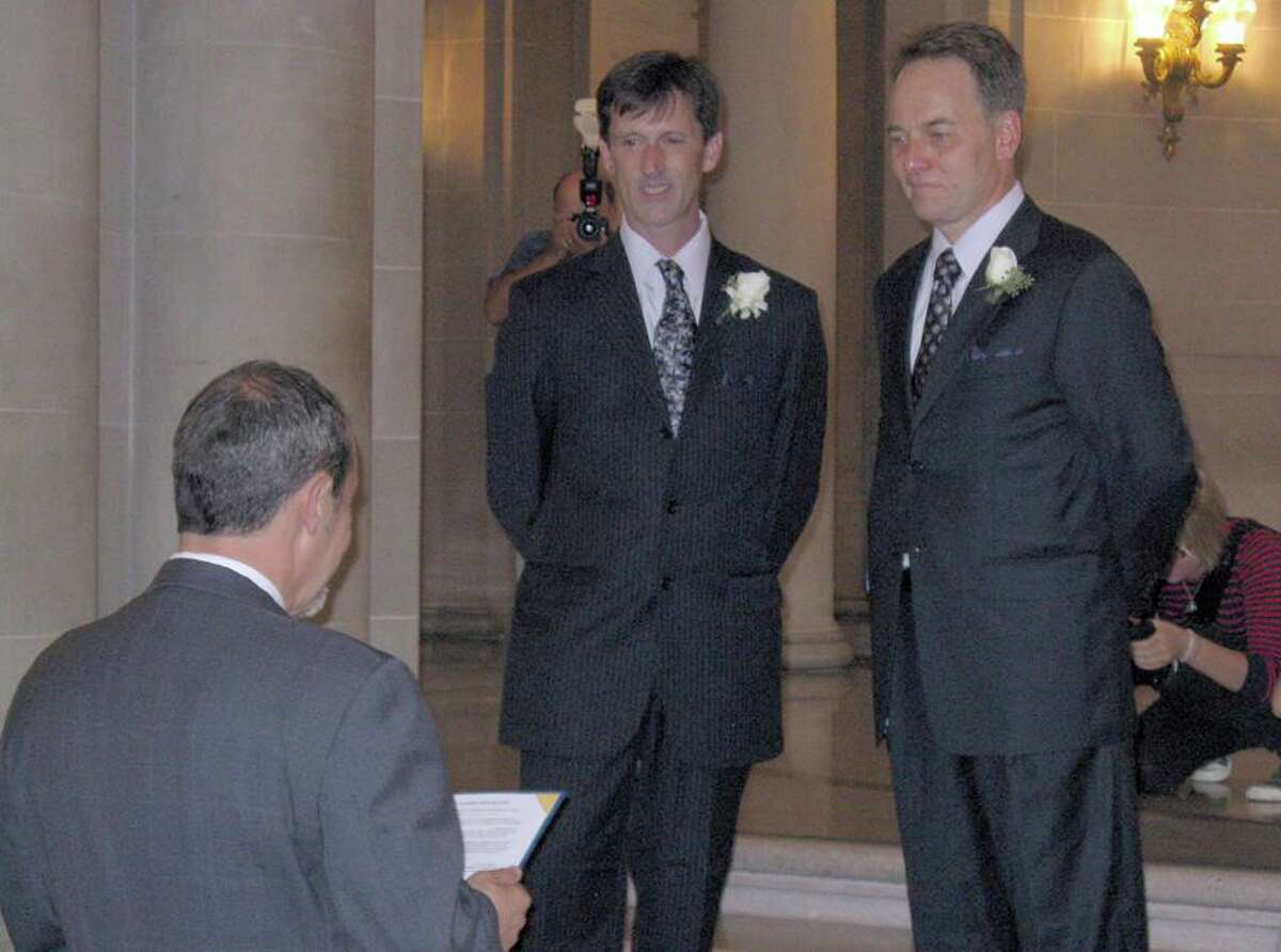 Kevin Fisher-Paulson (right) marries Brian Fisher for the second time and this time legally on Sept. 19, 2008, at San Francisco City Hall.