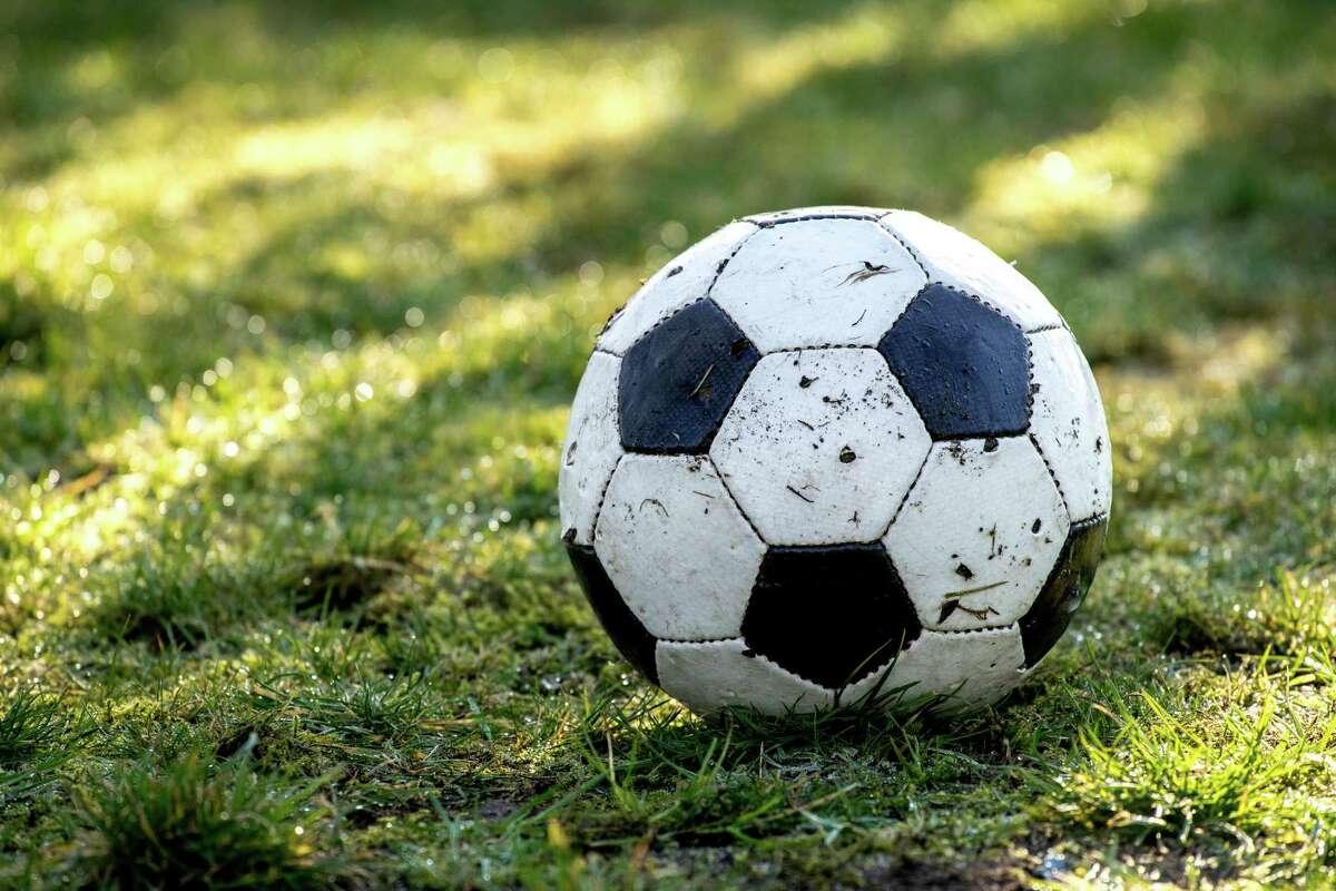 A Football Lying In The Garden
