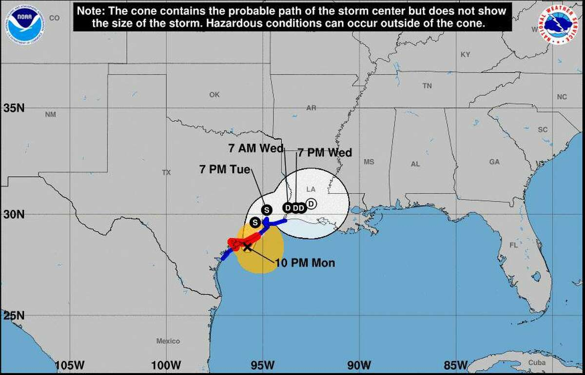 The freshly upgraded Hurricane Nicholas has dropped lower on the coast and appears to be slowing down as it nears landfall in the central Texas coast, according to the National Weather Service office in Lake Charles.