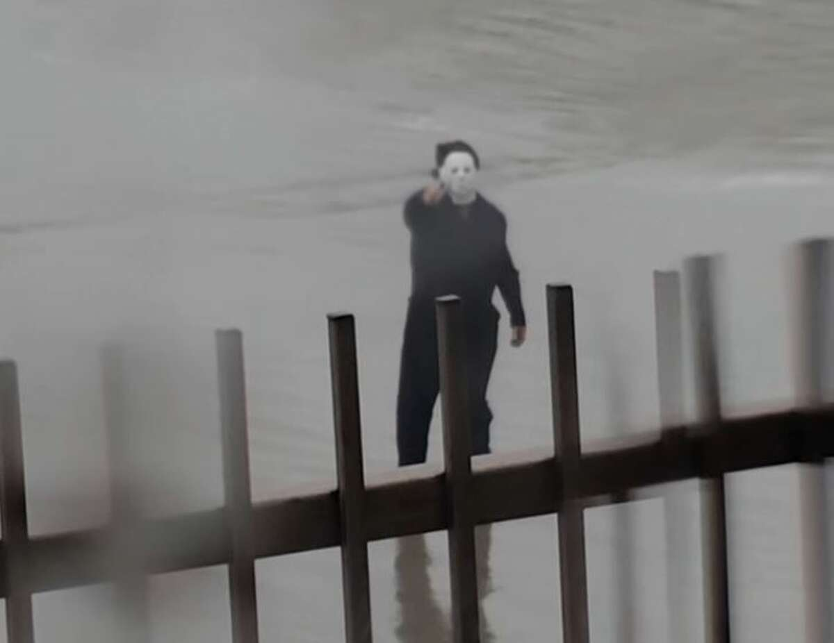 On Monday, September 13, police cited a Galveston man for strolling the beach while dressing up as a horror movie character.