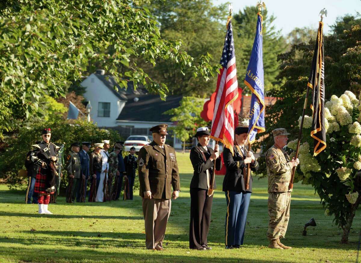 The town of Kent held a ceremony to honor the 20th anniversary of 9-11.