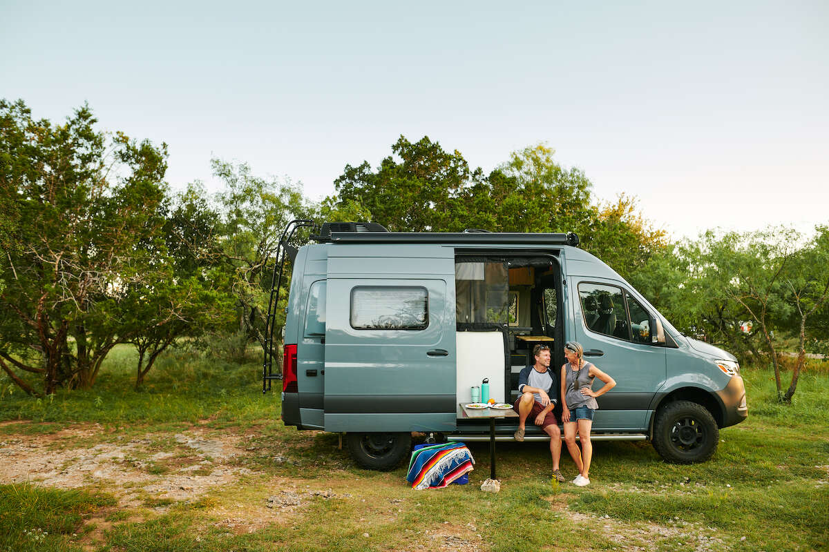 """No camping gear or outdoors know-how? RVs make it easy for novice campers to spend the night """"outdoors"""" comfortably. They're pretty stylish, too."""