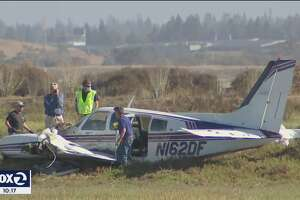 A small plane crashed near the Palo Alto Airport on Sept. 13, 2021.