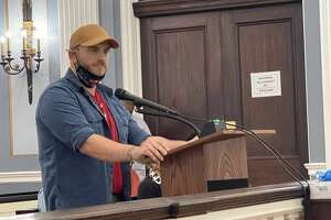 Kevin Hammer, a Republican candidate for Schenectady City Council, addresses City Council on Monday, Sept. 13, 2021.