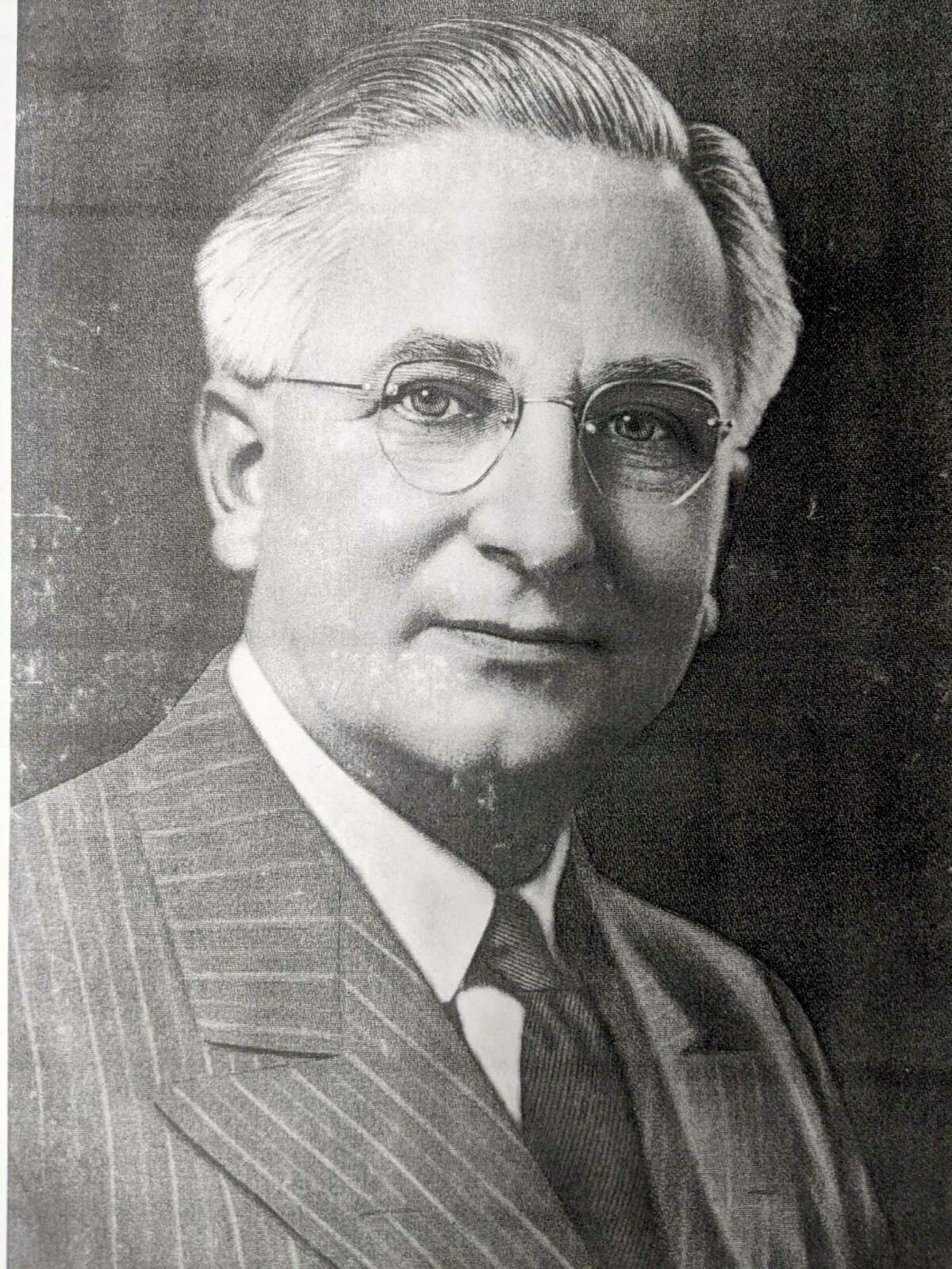 This is Willard Dow, son of Dr. Herbert Henry Dow. In 1930, at the age of 33, Willard Dow became president of The Dow Chemical Company, guiding it and the small town of Midland through the Depression and World War II. His untimely death at the age of 52 was mourned by thousands of people.